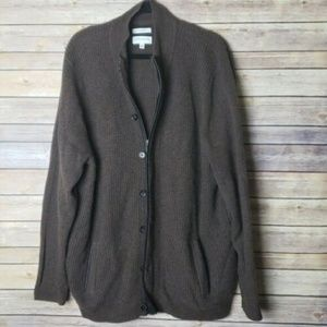 Nordstrom Men's Cashmere Cardigan - XL/Brown $400!